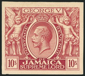 Sale Number 1114, Lot Number 1041, JamaicaJAMAICA, 1921, 10sh Mauve Trial Color Proof on Thick Paper (87TC; SG 89TC), JAMAICA, 1921, 10sh Mauve Trial Color Proof on Thick Paper (87TC; SG 89TC)
