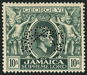 Sale Number 1114, Lot Number 1050, JamaicaJAMAICA, 1938-52, -1/2p-10sh King George VI Pictorials, Perforated Specimen (116S-128S; SG 121s-133s), JAMAICA, 1938-52, -1/2p-10sh King George VI Pictorials, Perforated Specimen (116S-128S; SG 121s-133s)