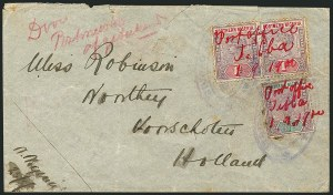 Sale Number 1114, Lot Number 1076, New Zealand thru St. LuciaNORTHERN NIGERIA, 1900, -1/2p Lilac & Green, 1p Lilac & Rose (1-2; SG 1-2), NORTHERN NIGERIA, 1900, -1/2p Lilac & Green, 1p Lilac & Rose (1-2; SG 1-2)