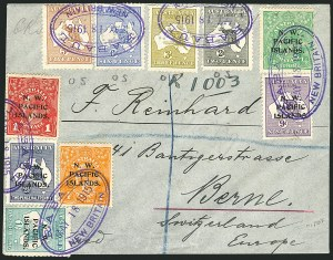Sale Number 1114, Lot Number 1077, New Zealand thru St. LuciaNORTH WEST PACIFIC ISLANDS, 1915 Rabaul, New Britain Cover, NORTH WEST PACIFIC ISLANDS, 1915 Rabaul, New Britain Cover
