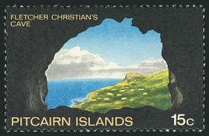 Sale Number 1114, Lot Number 1081, New Zealand thru St. LuciaPITCAIRN ISLAND, 1969, 15c Fletcher Christian's Cave, Gold (Queen's Head) Omitted (105a; SG 102a), PITCAIRN ISLAND, 1969, 15c Fletcher Christian's Cave, Gold (Queen's Head) Omitted (105a; SG 102a)