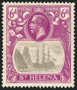 Sale Number 1114, Lot Number 1082, New Zealand thru St. LuciaST. HELENA, 1922-27, -1/2p-1p, 2p-3p, 6p Badge of the Colony, Cleft Rock (79-80 vars, 82-83 vars, 85 var; SG 97c-98c, 100c-101c, 104c), ST. HELENA, 1922-27, -1/2p-1p, 2p-3p, 6p Badge of the Colony, Cleft Rock (79-80 vars, 82-83 vars, 85 var; SG 97c-98c, 100c-101c, 104c)