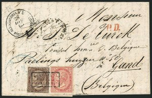 Sale Number 1114, Lot Number 1166, EgyptEGYPT, Italian Post Office, Italy, 1863-77, 30c Brown, 40c Carmine (30-31), EGYPT, Italian Post Office, Italy, 1863-77, 30c Brown, 40c Carmine (30-31)