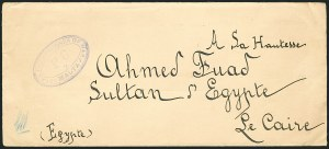 Sale Number 1114, Lot Number 1234, EgyptEGYPT, Postal History Addressed to King Fouad, EGYPT, Postal History Addressed to King Fouad