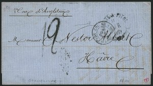 Sale Number 1114, Lot Number 1305, Greenland thru IcelandGUADELOUPE, Pointe-A-Pitre Stampless Covers, GUADELOUPE, Pointe-A-Pitre Stampless Covers