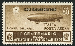 Sale Number 1114, Lot Number 1327, Italian States and ItalyITALY, Aegean Islands, 1935, 25c-3l + 2l Air Post (C32-C38; Sassone A38-A44), ITALY, Aegean Islands, 1935, 25c-3l + 2l Air Post (C32-C38; Sassone A38-A44)
