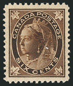 Sale Number 1114, Lot Number 141, Canada - Maple Leaf and Numeral IssueCANADA, 1897, 6c Brown Maple Leaf (71), CANADA, 1897, 6c Brown Maple Leaf (71)