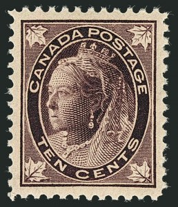 Sale Number 1114, Lot Number 143, Canada - Maple Leaf and Numeral IssueCANADA, 1898, 10c Brown Violet Maple Leaf (73), CANADA, 1898, 10c Brown Violet Maple Leaf (73)