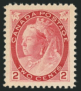 Sale Number 1114, Lot Number 145, Canada - Maple Leaf and Numeral IssueCANADA, 1899, 2c Carmine, Ty. I (77), CANADA, 1899, 2c Carmine, Ty. I (77)