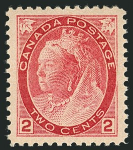 Sale Number 1114, Lot Number 146, Canada - Maple Leaf and Numeral IssueCANADA, 1899, 2c Carmine, Ty. II (77a), CANADA, 1899, 2c Carmine, Ty. II (77a)