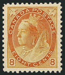 Sale Number 1114, Lot Number 150, Canada - Maple Leaf and Numeral IssueCANADA, 1898, 8c Orange (82), CANADA, 1898, 8c Orange (82)