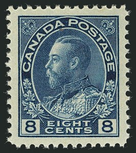 Sale Number 1114, Lot Number 178, Canada - King George V Admiral IssueCANADA, 1925, 8c Blue (115), CANADA, 1925, 8c Blue (115)