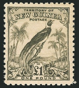 Sale Number 1114, Lot Number 348, New Guinea thru New ZealandNEW GUINEA, 1932-34, 1p-£1 Bird of Paradise (31-45; SG 177-189), NEW GUINEA, 1932-34, 1p-£1 Bird of Paradise (31-45; SG 177-189)