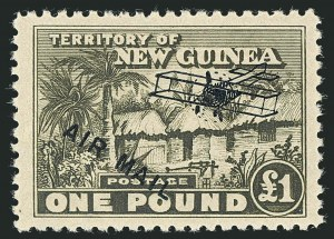 Sale Number 1114, Lot Number 349, New Guinea thru New ZealandNEW GUINEA, 1931, -1/2p-£1 Air Post (C1-C13; SG 137-149), NEW GUINEA, 1931, -1/2p-£1 Air Post (C1-C13; SG 137-149)