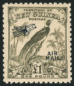 Sale Number 1114, Lot Number 351, New Guinea thru New ZealandNEW GUINEA, 1932-34, -1/2p-£1 Air Post (C28-C43; SG 190-203), NEW GUINEA, 1932-34, -1/2p-£1 Air Post (C28-C43; SG 190-203)