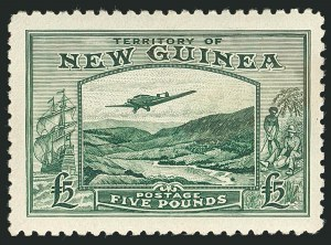Sale Number 1114, Lot Number 352, New Guinea thru New ZealandNEW GUINEA, 1935, £2 Violet, £5 Green, Air Post (C44-C45; SG 204-205), NEW GUINEA, 1935, £2 Violet, £5 Green, Air Post (C44-C45; SG 204-205)