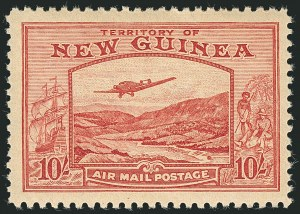 Sale Number 1114, Lot Number 353, New Guinea thru New ZealandNEW GUINEA, 1939, -1/2p-£1 Air Post (C46-C59; SG 212-225), NEW GUINEA, 1939, -1/2p-£1 Air Post (C46-C59; SG 212-225)