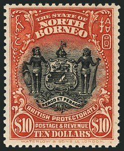 Sale Number 1114, Lot Number 398, Nigeria thru NyasalandNORTH BORNEO, 1926-28, 1c-$10.00 Pictorials (167-184; SG 277-294), NORTH BORNEO, 1926-28, 1c-$10.00 Pictorials (167-184; SG 277-294)