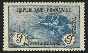 Sale Number 1114, Lot Number 503, France Back-of-Book and CollectionsFRANCE, 1917-19, 2c+3c to 5fr+5fr War Orphans Semi-Postal (B3-B10; Yvert 148-155), FRANCE, 1917-19, 2c+3c to 5fr+5fr War Orphans Semi-Postal (B3-B10; Yvert 148-155)