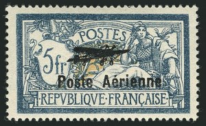 Sale Number 1114, Lot Number 505, France Back-of-Book and CollectionsFRANCE, 1927, 2fr-5fr Air Post (C1-C2; Yvert PA1-PA2), FRANCE, 1927, 2fr-5fr Air Post (C1-C2; Yvert PA1-PA2)
