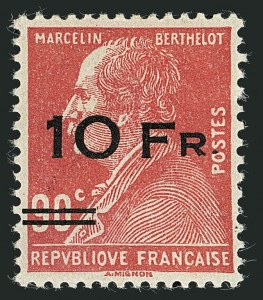 Sale Number 1114, Lot Number 506, France Back-of-Book and CollectionsFRANCE, 1928, 10fr on 90c Air Post (C3; Yvert PA3), FRANCE, 1928, 10fr on 90c Air Post (C3; Yvert PA3)