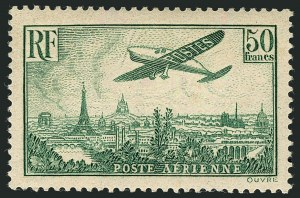 Sale Number 1114, Lot Number 510, France Back-of-Book and CollectionsFRANCE, 1936, 85c-50fr Plane Over Paris (C8-C14; Yvert PA8-PA14), FRANCE, 1936, 85c-50fr Plane Over Paris (C8-C14; Yvert PA8-PA14)