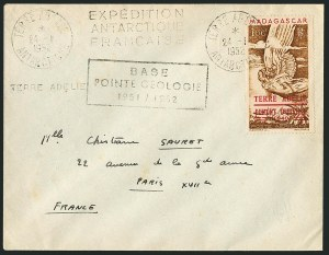 Sale Number 1114, Lot Number 622, French Morocco thru French Southern & Antarctic TerritoriesFRENCH SOUTHERN & ANTARCTIC TERRITORY, 1948, 100fr Brown, Air Post (Madagascar C54; Yvert PA1), FRENCH SOUTHERN & ANTARCTIC TERRITORY, 1948, 100fr Brown, Air Post (Madagascar C54; Yvert PA1)