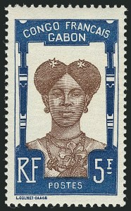 "Sale Number 1114, Lot Number 629, French Sudan thru Indo-ChinaGABON, 1910, 1c-5fr Pictorials with ""Congo Francais"" (33-48; Yvert 33-48), GABON, 1910, 1c-5fr Pictorials with ""Congo Francais"" (33-48; Yvert 33-48)"