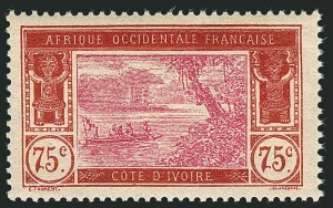 Sale Number 1114, Lot Number 641, Ivory Coast thru MadagascarIVORY COAST, 1927, 90c on 75c Brown Red & Cerise, Surcharge Omitted (86a; Yvert 75a), IVORY COAST, 1927, 90c on 75c Brown Red & Cerise, Surcharge Omitted (86a; Yvert 75a)