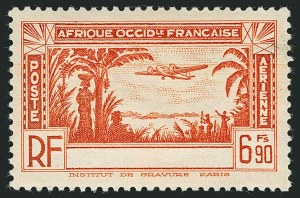 Sale Number 1114, Lot Number 643, Ivory Coast thru MadagascarIVORY COAST, 1940, 1.90fr-6.90fr Air Posts, Country Name Omitted (C1-C5 vars; Yvert PA1a-PA5a), IVORY COAST, 1940, 1.90fr-6.90fr Air Posts, Country Name Omitted (C1-C5 vars; Yvert PA1a-PA5a)