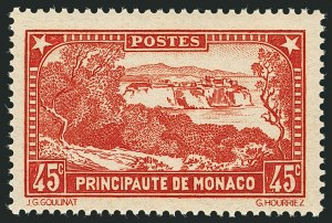 Sale Number 1114, Lot Number 670, MonacoMONACO, 1932, 45c Red (115a; Yvert 123a), MONACO, 1932, 45c Red (115a; Yvert 123a)