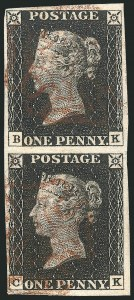 Sale Number 1114, Lot Number 788, Great BritainGREAT BRITAIN, 1840, 1p Black (1; SG 2), GREAT BRITAIN, 1840, 1p Black (1; SG 2)