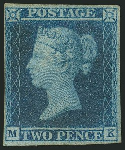 Sale Number 1114, Lot Number 790, Great BritainGREAT BRITAIN, 1841, 2p Pale Blue (4a; SG 13), GREAT BRITAIN, 1841, 2p Pale Blue (4a; SG 13)