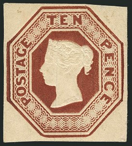 Sale Number 1114, Lot Number 792, Great BritainGREAT BRITAIN, 1854, 10p Red Brown (6; SG 57), GREAT BRITAIN, 1854, 10p Red Brown (6; SG 57)