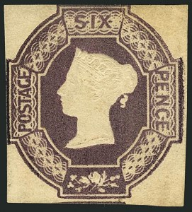 Sale Number 1114, Lot Number 793, Great BritainGREAT BRITAIN, 1854, 6p Red Violet, Embossed (7; SG 60), GREAT BRITAIN, 1854, 6p Red Violet, Embossed (7; SG 60)