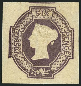 Sale Number 1114, Lot Number 794, Great BritainGREAT BRITAIN, 1854, 6p Dull Violet, Embossed (7a; SG 59), GREAT BRITAIN, 1854, 6p Dull Violet, Embossed (7a; SG 59)
