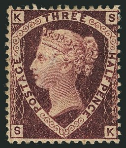 Sale Number 1114, Lot Number 797, Great BritainGREAT BRITAIN, 1870, 1-1/2p Lake Red (32a; SG 52), GREAT BRITAIN, 1870, 1-1/2p Lake Red (32a; SG 52)