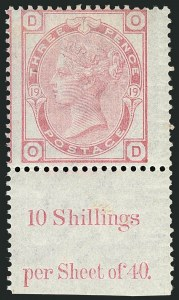 Sale Number 1114, Lot Number 801, Great BritainGREAT BRITAIN, 1873-80, 3p Rose (61; SG 144), GREAT BRITAIN, 1873-80, 3p Rose (61; SG 144)