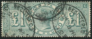 Sale Number 1114, Lot Number 806, Great BritainGREAT BRITAIN, 1891, £1 Green (124; SG 212), GREAT BRITAIN, 1891, £1 Green (124; SG 212)