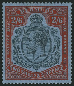 Sale Number 1114, Lot Number 862, Bahamas thru BushireBERMUDA, 1931, 2sh6p Black & Scarlet Vermilion on Deep Blue, Break Through Scroll (SG 89jd), BERMUDA, 1931, 2sh6p Black & Scarlet Vermilion on Deep Blue, Break Through Scroll (SG 89jd)