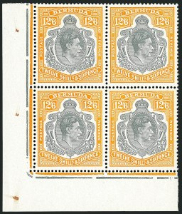 Sale Number 1114, Lot Number 864, Bahamas thru BushireBERMUDA, 1940, 12sh6p Orange & Gray, Perf 14 (127a; SG 120b), BERMUDA, 1940, 12sh6p Orange & Gray, Perf 14 (127a; SG 120b)