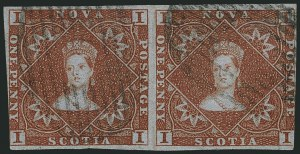 Sale Number 1114, Lot Number 893, Canadian Provinces - Newfoundland thru Prince Edward IslandNOVA SCOTIA, 1853, 1p Red Brown (1; SG 1), NOVA SCOTIA, 1853, 1p Red Brown (1; SG 1)