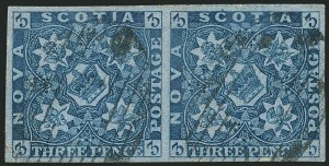 Sale Number 1114, Lot Number 894, Canadian Provinces - Newfoundland thru Prince Edward IslandNOVA SCOTIA, 1851, 3p Bright Blue (2; SG 3), NOVA SCOTIA, 1851, 3p Bright Blue (2; SG 3)