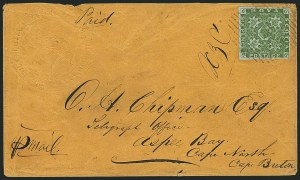 Sale Number 1114, Lot Number 898, Canadian Provinces - Newfoundland thru Prince Edward IslandNOVA SCOTIA, 1851, 6p Yellow Green (4; SG 5), NOVA SCOTIA, 1851, 6p Yellow Green (4; SG 5)