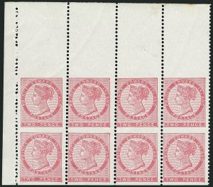 Sale Number 1114, Lot Number 903, Canadian Provinces - Newfoundland thru Prince Edward IslandPRINCE EDWARD ISLAND, 1862, 2p Rose, Vertical Pair, Imperforate Horizontally (5d; SG 28d), PRINCE EDWARD ISLAND, 1862, 2p Rose, Vertical Pair, Imperforate Horizontally (5d; SG 28d)