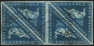 Sale Number 1114, Lot Number 939, Cape of Good Hope incl. MafekingCAPE OF GOOD HOPE, 1853, 4p Blue (2; SG 4), CAPE OF GOOD HOPE, 1853, 4p Blue (2; SG 4)