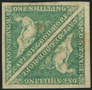 Sale Number 1114, Lot Number 946, Cape of Good Hope incl. MafekingCAPE OF GOOD HOPE, 1863, 1sh Emerald (15; SG 21), CAPE OF GOOD HOPE, 1863, 1sh Emerald (15; SG 21)