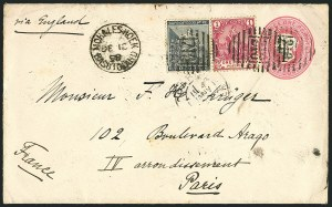 Sale Number 1114, Lot Number 947, Cape of Good Hope incl. MafekingCAPE OF GOOD HOPE, Used in Basutoland, 1886, -1/2p Gray Black (41; SG 48), CAPE OF GOOD HOPE, Used in Basutoland, 1886, -1/2p Gray Black (41; SG 48)