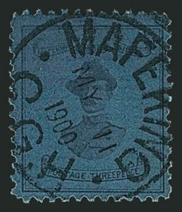 Sale Number 1114, Lot Number 949, Cape of Good Hope incl. MafekingCAPE OF GOOD HOPE, MAFEKING, 1900, 3p Deep Blue on Blue, Baden-Powell (179; SG 20), CAPE OF GOOD HOPE, MAFEKING, 1900, 3p Deep Blue on Blue, Baden-Powell (179; SG 20)