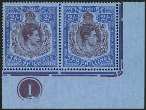 Sale Number 1114, Lot Number 96, Bermuda (by Gibbons) thru British HondurasBERMUDA, 1940, 2sh Deep Reddish Purple & Ultramarine on Gray Blue (SG 116a), BERMUDA, 1940, 2sh Deep Reddish Purple & Ultramarine on Gray Blue (SG 116a)